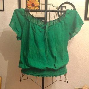 Love Squared Tops - Cute green boho too