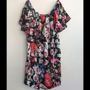 Zara Off the Shoulder Floral Blouse