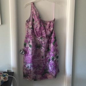 Jcrew one shoulder floral dress
