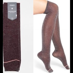 Stance Accessories - Stance over knee shimmer socks Nwt