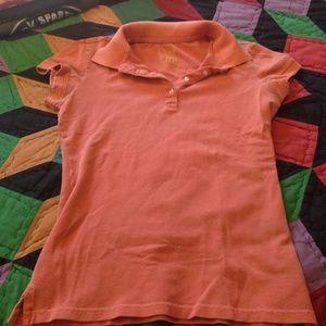 Lilu Tops - Orange polo shirt