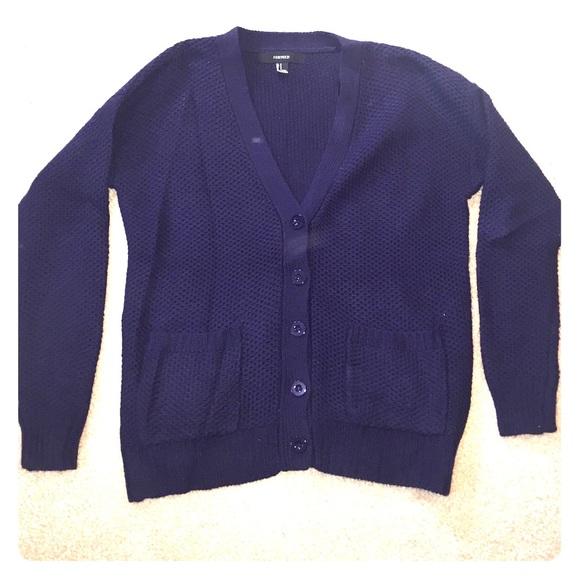 27% off Sweaters - Navy Blue Boyfriend Cardigan from Riannon's ...