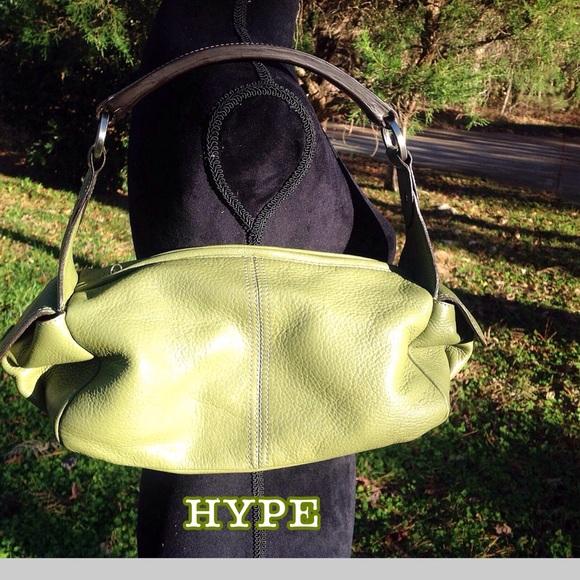 51607c3b1e79 Hype Handbags - HYPE Lime Green Soft Leather Handbag