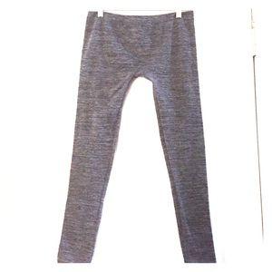 Pants - Gray Fleece-Lines Leggings