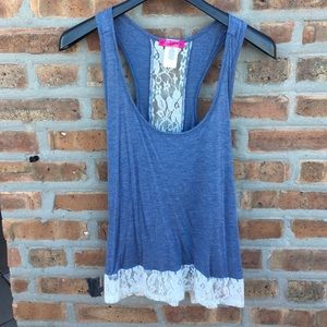 Body Central Tops - Body Central Lace Tank Top Size Small
