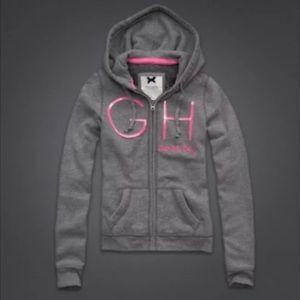 New Gilly Hicks Zip Up Hoodie Sweatshirt Gray