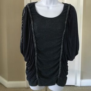 T Party Sequined shirt sz M