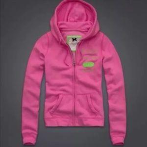 New Gilly Hicks Zip Up Hoodie Sweatshirt Pink