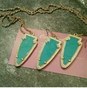 Mint Arrowhead Jewelry Set! NEW