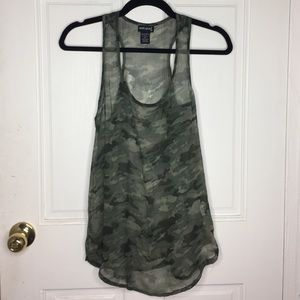 Wet Seal Tops - Sheer camo shirt