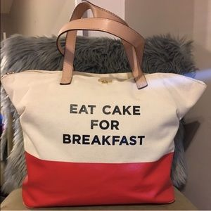 🎉FLASH SALE!🎉Eat Cake for Breakfast Tote