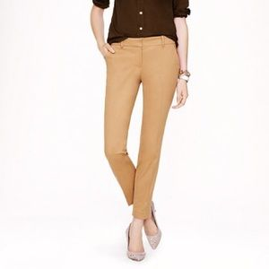 J.Crew Camel Cafe Trousers NWOT