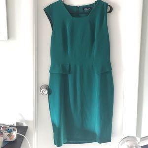 Emerald peplum dress
