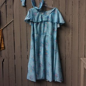 Vintage handmade caplet dress