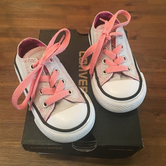 40ac42f1134b Converse Other - Gray   Pink toddler girl Converse