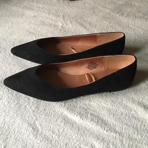 d66a40520475 H M Shoes - H M Black Velvet Pointed Flats
