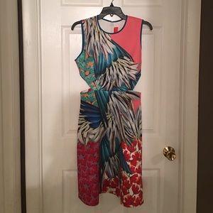 Clover canyon multi color cutout dress