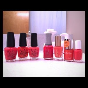 OPI Other - OPI and others coral nail polish bundle