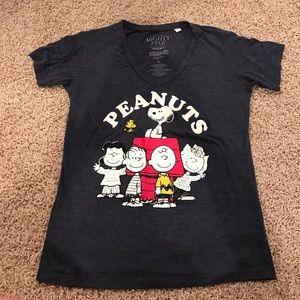 Mighty Fine Tops - Dark blue Charlie Brown shirt