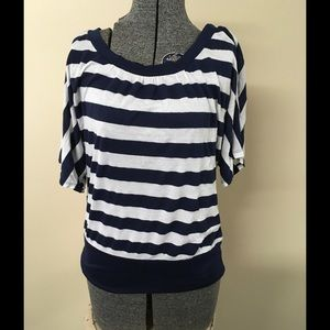 Cato Navy and White Top Size Medium.