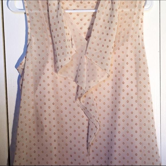 Ann Taylor Tops - **FINAL PRICE**Ruffled sleeveless polka dot blouse
