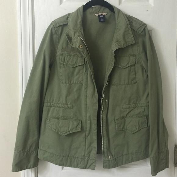 d0e4dc765bfd6 GAP Jackets & Coats | Olive Military Army Utility Jacket | Poshmark