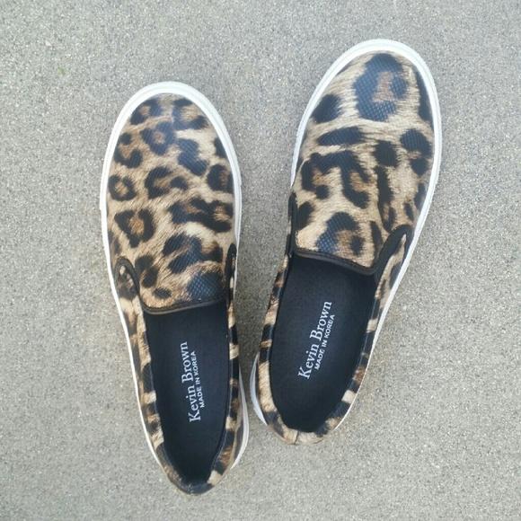 137a8133d6fa1f Kevin Brown Leopard Print Shoes. M 57fad315680278a37500cd9d