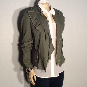 William Rast Jackets & Blazers - William Rast olive military inspired jacket