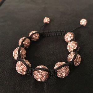 Jewelry - Rose gold and black adjustable bracelet