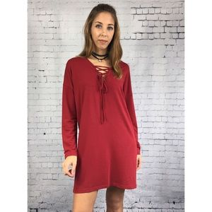 Threads & Trends Dresses & Skirts - The Scarlet Lace Up Tunic