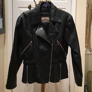 Vintage Authentic Leather Biker Jacket - from 80's