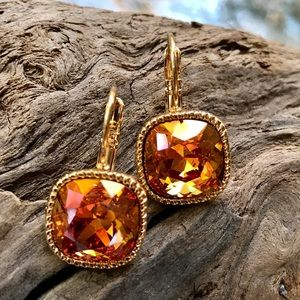 Jewelry - Handcrafted earrings with Swarovski crystal #72