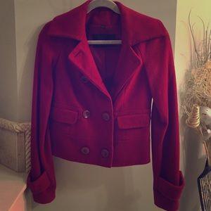 Reduced!! Rachel Zoe - Red Pea Coat