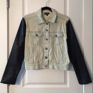 Audrey 3+1 Jackets & Blazers - Denim & Faux Leather Jacket