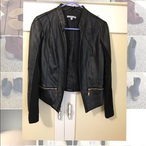 Charlotte Russe Leather Jacket: Size S