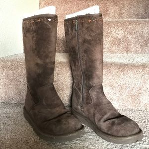 UGG Shoes - Ugg Tall Brown Boots with Detailing