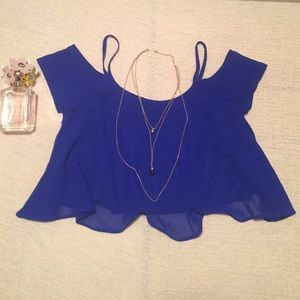Royal blue crop top