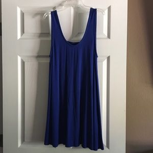 Blue cotton dress, L, worn once