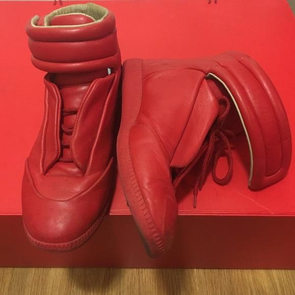 99529ebeacb2 Maison Martin Margiela Shoes | Future High Top Red Eu 41 | Poshmark