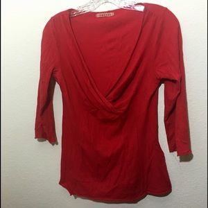 Velvet Tops - Red wrap tee, VELVET, sz S super cute! Great shirt