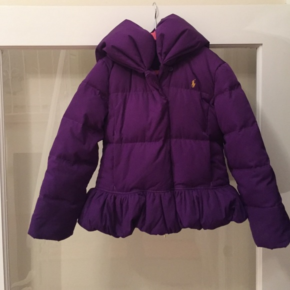 wholesale online fine quality how to orders Ralph Lauren Purple Girls Down filled Puffer