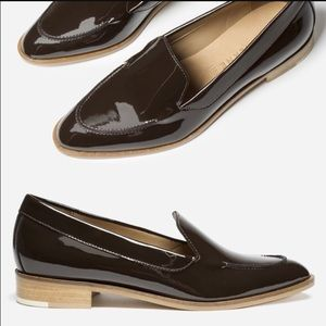 Everlane Shoes - Everlane dark brown patent loafer