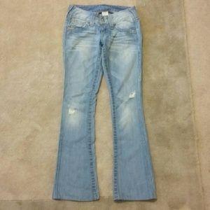 True Religion Denim - True Religion Jeans destressed light wash sz.24