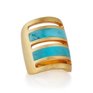 Pamela Love Jewelry - Pamela Love Irissa Gold Turquoise Path Ring