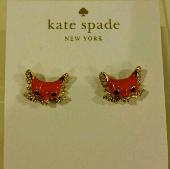 d3db8d4abdf59 Kate Spade Fox Earrings NWT
