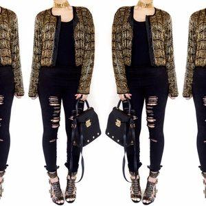 Vintage Jackets & Blazers - Vintage beaded jacket