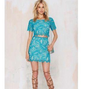 ❌SOLD❌ For Love & Lemons Lace Shirt Skirt Dress