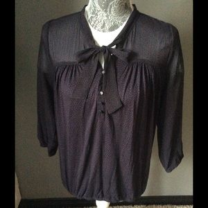 Loft Navy Blouse XS