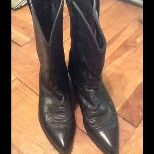 Justin Boots Shoes - Black leather Justin boots