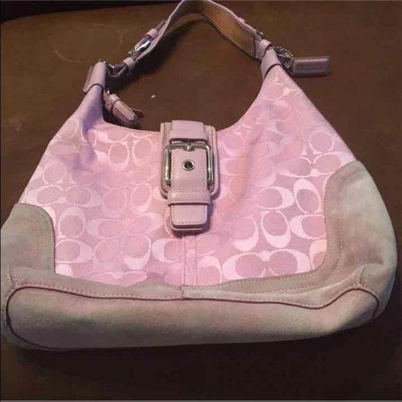 90 off coach handbags light pink coach purse from